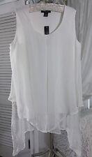 NEW~ Plus Size 3X Ivory Off-White  Boho Layered Top Shirt Blouse