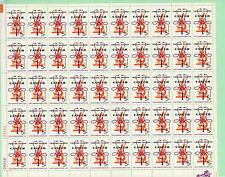 Usa Full Sheet of 50, Sc 1263, Crusade Against Cancer, 1965, Mnh
