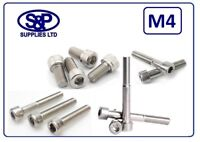 M4 (4MM) STAINLESS STEEL SOCKET CAP SCREW SKT CAP A2 ST/ST FROM 8MM TO 50MM LONG