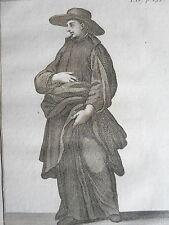 Clerc Regulier de la MERE de DIEU de LUCQUES ordre GRAVURE POILLY JUN XVIIIéme