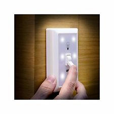 2 X LED BATTERY OPERATED SWITCH NIGHT LIGHT CHILDRENS BEDROOM HALL WALL SELF ADH
