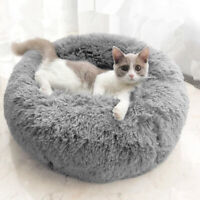 Large Pet Dog Cat Calming Beds Bed Warm Soft Plush Round Cute Nest Sleep Comfy