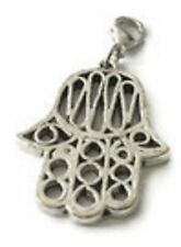 LOVELY  SILVER HAND OF FATIMA CLIP ON CHARM FOR BRACELETS - TIBETAN SILVER