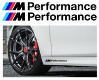 2 BMW Black M Performance Side Skirt Vinyl Decals Graphics Stickers Sills Badge