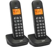 AEG Voxtel D135 Twin - Zwei schnurlos DECT Telefon mit Anrufbeantworter + B-Ware