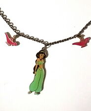 VTG DISNEY ALADDIN JASMINE PRINCESS GENIE(2~LAMPS)NECKLACE*HTF Near MINT