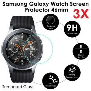 3 x 46mm Tempered Glass Screen Protector Cover For Samsung Galaxy Smart Watch