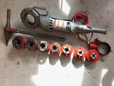 Ridgid 700 Power Drive Pipe Threader Handheld Threading Machine w/ dies