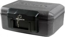 SentrySafe Fire Safe Chest 0.18 cu. ft. Portable Key Lock Carrying grips Black