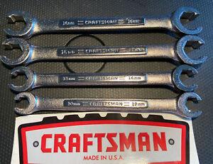 4 New USA Craftsman Metric MM Flare Nut Line Wrench Set 10x12 13x14 15x17 16x18