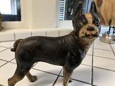 vintage hubley cast iron boston terrier doorstop
