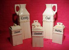 Essig-und Ölset/Gewürzdosen/Vorratsdosen, um 1920