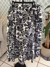 Black and white floral skirt