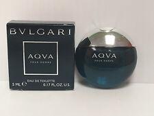 BVLGARI AQVA By BVLGARI MEN COLOGNE 0.17 OZ / 5 ml NEW IN BOX MINIATURE @SALE!