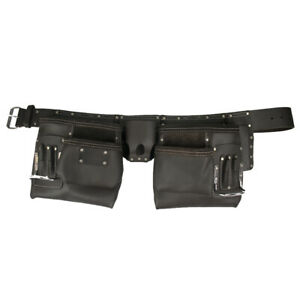 WorkGearUK Tool Belt Pouch Apron 10 Pockets Split Leather WG-PX11