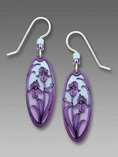 Adajio Earrings Purple Ombré Oval Earrings Violet Irises Flowers Handmade in USA