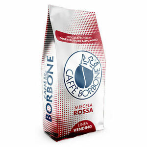 6 CONFEZIONI DA 1KG CAFFE' BORBONE IN GRANI MISCELA ROSSA RED 6KG