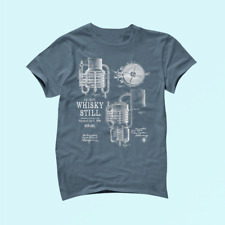 Whisky Still Patent - Vintage For Whisky Fans T-Shirt 100% Cotton Unisex _838