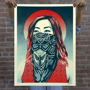 OBEY Print JUST FUTURE RISING Signed Shepard Fairey L.E. 450 CONFIRMED ORDER!