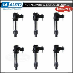Delphi GN10494 Ignition Coil Set of 6 for Buick Cadillac Chevy GMC Pontiac Saab