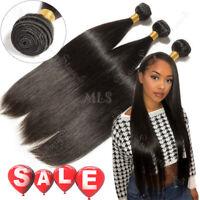 100% Soft 3 Bundles=300G Brazilian Virgin Human Hair Weave Extensions US Cheap