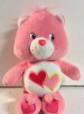 CARE BEARS LOVE A LOT BEAR PINK With HEARTS STUFFED ANIMAL PLUSH DOLL TOY 8""