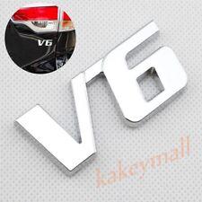 Universal Car Trim V6  Emblem Logo Badge 3D Sticker Decal Chrome Metal Accessory