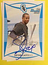 2008 Bowman #BP46 Javier Castillo Chicago White Sox  auto signed autograph