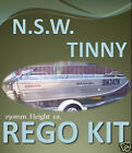 "NSW ""TINNY"" BOAT REGO DECAL STICKER - Custom Cast Vinyl Registration Numbers"