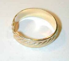 Handcrafted crosshatch 14 karat gold filled thumb ring