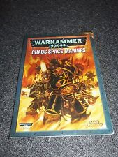 2007 Warhammer 40,000 40K Codex Chaos Space Marines Paperback Book