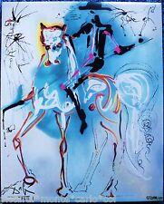 SALVADOR DALÍ THE PICADOR GOLD 1971 CERAMIC RARE COLLECTOR HORSE HORSE HORSES