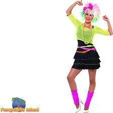 Neon Belts Multipack 80/'s Style Dance Retro Womens Ladies Fancy Dress Accessory