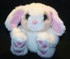 "Fiesta Plush 5"" Big Foot Bunny Rabbit Pink ears Big Eyes Lovey Stuffed Thumper"