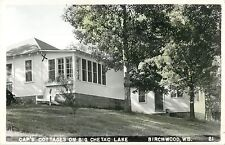 A View Of Cap's Cottages On Big Chetac Lake, Birchwood, Wisconsin WI RPPC 1951