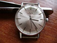 LUCH chromium-plated Cal.2209 USSR vintage men's ULTRA THIN mechanical wristwatc