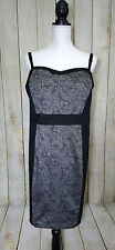 Torrid Womens Dress Plus Size 22 Black Spaghetti Strap Glam Rock Lace Print