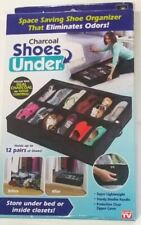 Shoes Under Charcoal Odor Control Underbed Foldable Shoe Organizer