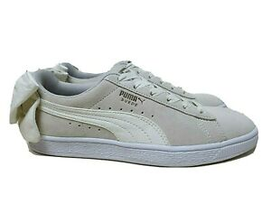 Puma Suede Bow Womens 'Whisper White' New (7US) disc basket trace w clyde