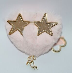 Victoria's Secret Contre Mode Coeur Rose Pompon Star Eyes Puff Porte-Clé Pince À