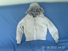 Womans Size 12 - Light Grey Hooded Warm Jacket  - Jane Norman