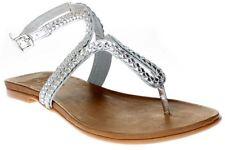 Sandali e scarpe con zeppa in oro per il mare da donna