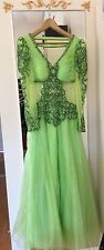 Exotic Hand-made, Rhinestones & Beads Belly-dance Inspired Gown, 6