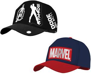 Marvel Avengers Iron Man Baseball Cap Teenagers Adults 58 cm Adjustable Cotton