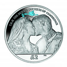 2013 South Georgia Duke Duchess Cambridge Birth Prince George Silver Proof Coin
