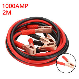 HEAVY DUTY 1000AMP CAR VAN JUMP LEADS 2 METRE BOOSTER CABLE START NEW