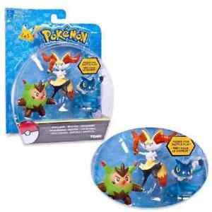 Tomi / set of 3 Pokemon figures - Quilladin, Bryksen, Frogadier, plasti