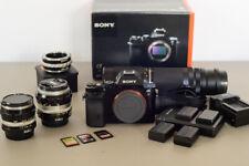 Sony Alpha A7 24.3 MP Digital Camera - Kit w/ Nikon Legacy lenses + many extras