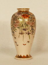 Antique Japanese Porcelain Meiji  Satsuma Miniature Vase Signed Taizan