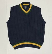 WILLIS GEIGER FISHING VEST KNIT MENS YELLOW Navy BLUE GREEN Sz M OUTFITTERS